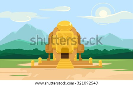 vector gold tomb flat
