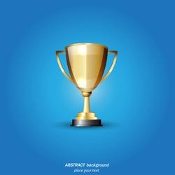 Vector Gold Trophy
