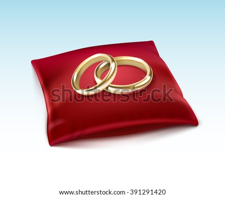 vector gold wedding rings  on