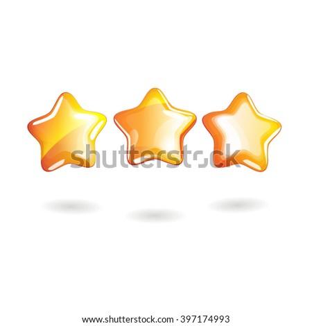 vector golden achievement three