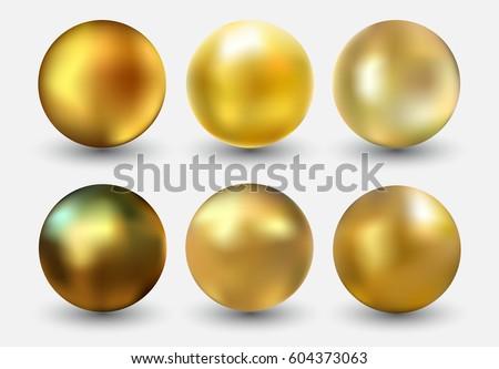 vector golden ballrealistic