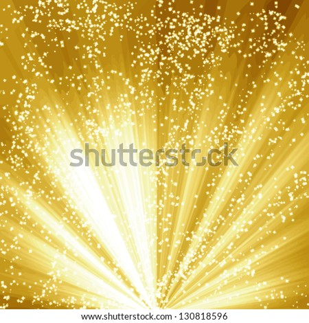 Vector golden christmas or festive background with soft highlights and  shades