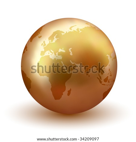 Vector Golden Earth - Check Portfolio for More Like This.