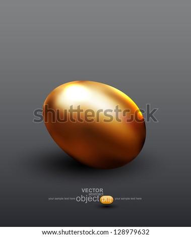 vector golden egg
