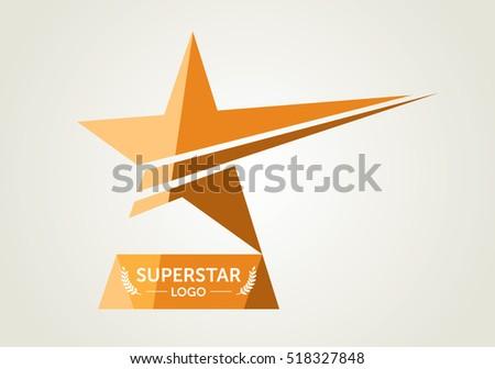 Vector Golden Flat Star Award Icon