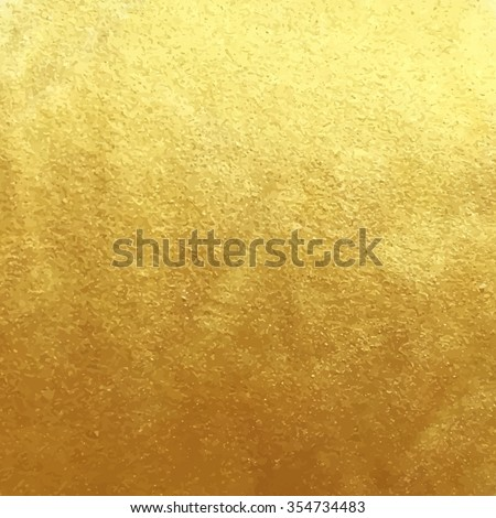 Vector golden foil background template for cards, hand drawn backdrop - invitations, posters, cards. #354734483
