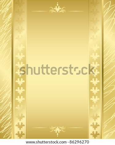 vector golden frame with golden decorations