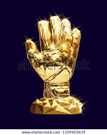 vector golden glove