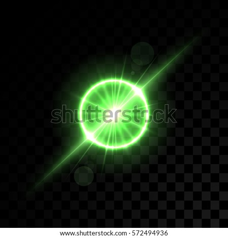 vector golden green lights on