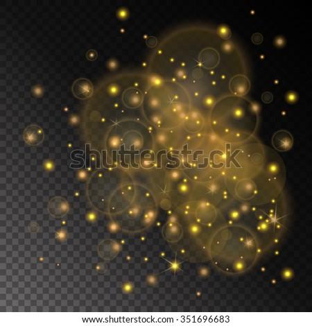 vector golden lights concept