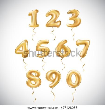 vector golden number 1  2  3  4