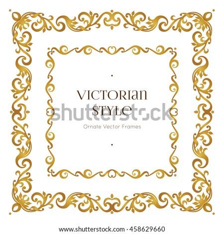 vector golden precious frame