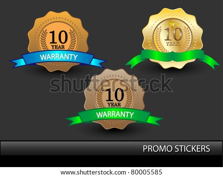 Vector golden promo stickers