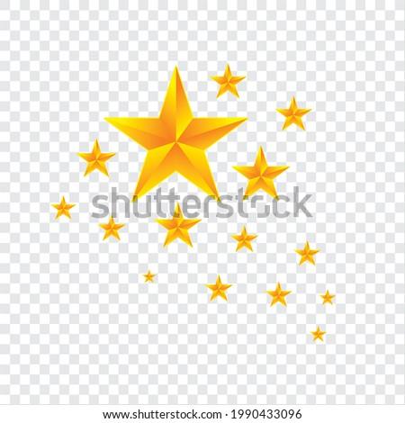 Vector Golden Shapes with sparkling gradien star style gradien Stock fotó ©