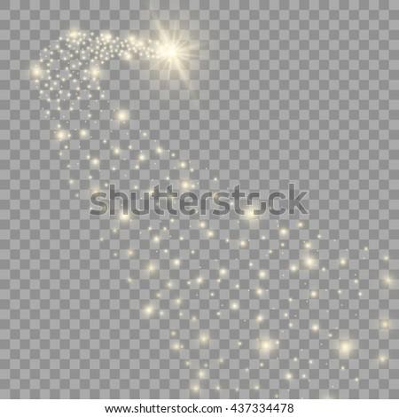 vector golden sparkling falling