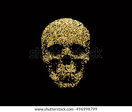 vector golden sparkling human