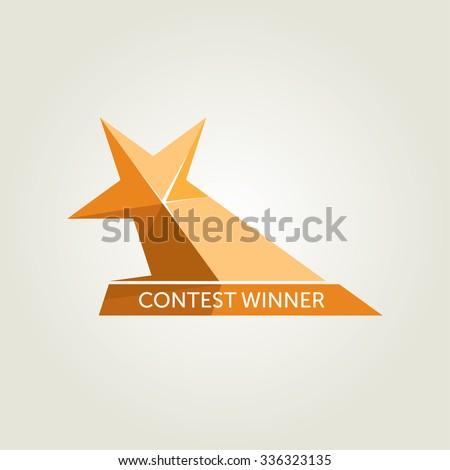 Vector Golden Star Award Icon