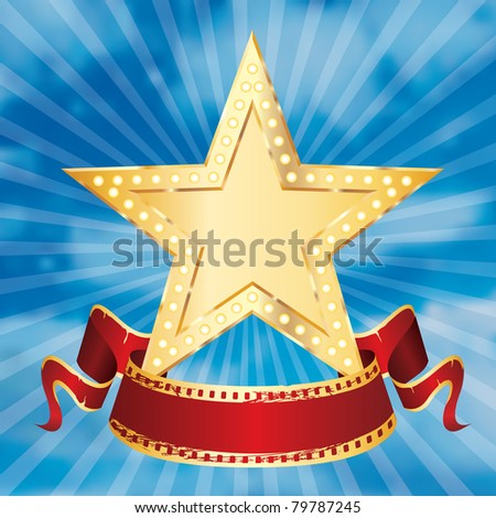 vector golden star on the