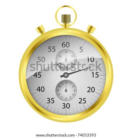 Vector golden stop watch