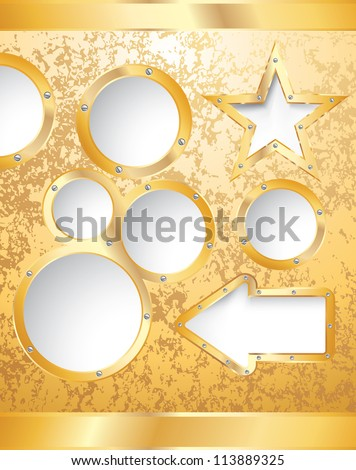 vector golden template for diverse business