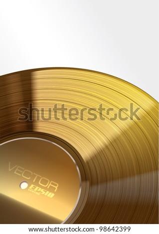 Vector Golden Vinyl Background