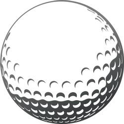 Vector golf ball close-up