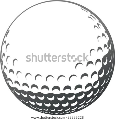 vector golf ball close up