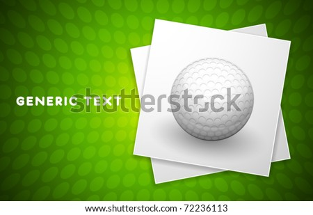 Vector Golf Ball Illustration