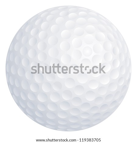 Vector golf ball isolated on white