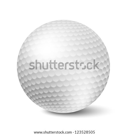 Vector Golf ball isolated on white background