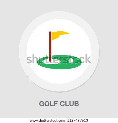vector golf club illustration isolated. sports icon - play game sign