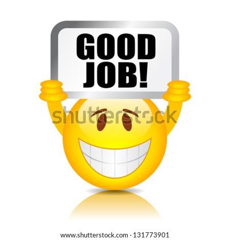 vector good job smiley