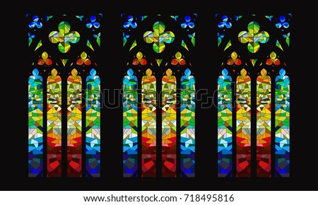 vector gothic stained glass