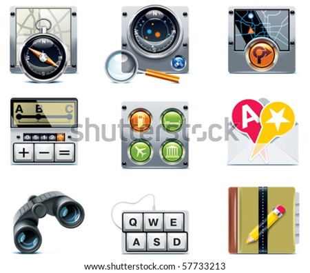 Vector GPS navigation icons. Part 2 - stock vector