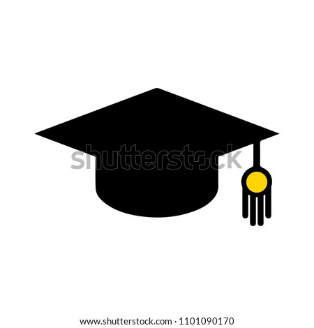 vector graduation cap - education icon, academic university hat illustration