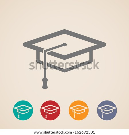 vector graduation cap icons