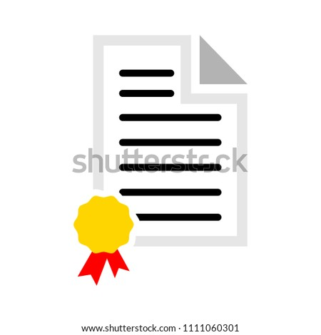 vector graduation certificate, education diploma - award degree symbol