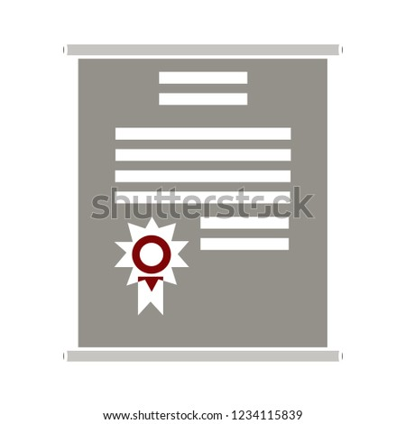 vector graduation certificate isolated vector - achievement badge sign symbol . award certification illustration sign