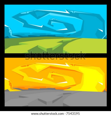 Vector Graffiti Landscape