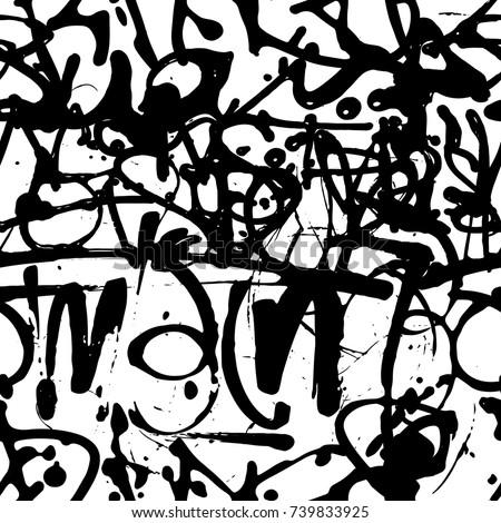 vector graffiti seamless