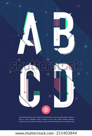 vector graphic alphabet in a