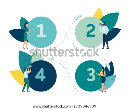 Vector graphic, Circle number options infographic, can be used for workflow layout, diagram, presentation, web design, business concept with 4 options, steps or processes vector
