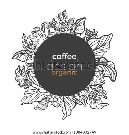 vector graphic coffee tree