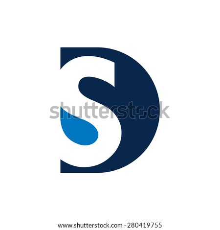 Vector graphic D and S letter symbol for your company Zdjęcia stock ©