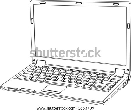 vector graphic depicting a laptop notebook personal computer