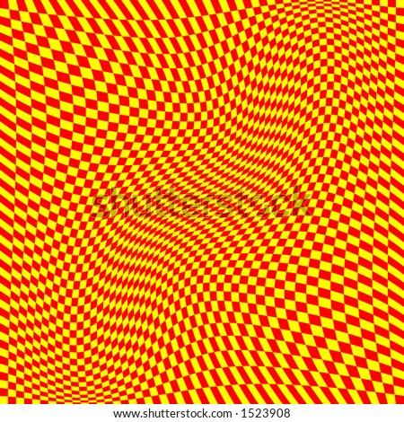 vector graphic depicting op art/pop art checkerboard pattern background