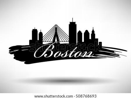 boston skyline illustration download free vector art stock rh vecteezy com Boston City Skyline Silhouette boston skyline outline vector