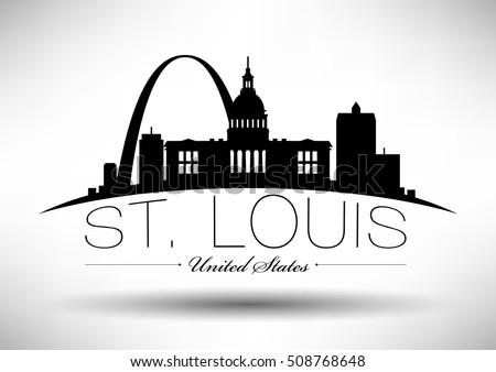 Vector Graphic Design of St. Louis City Skyline