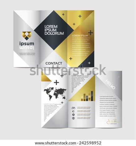 classy brochure design - vector graphic elegant abstract business brochure design