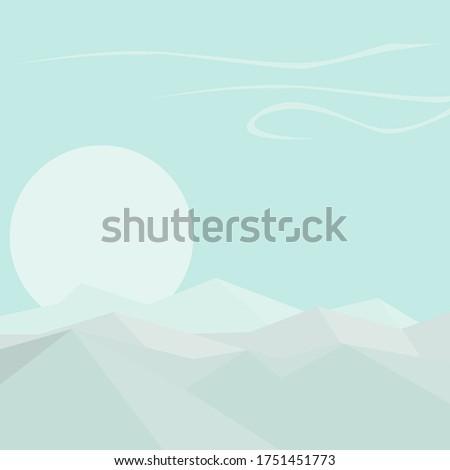 vector graphic gentle landscape